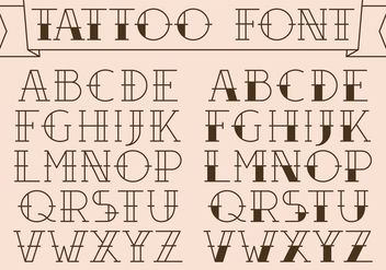 Old School Tattoo Type Vectors - vector gratuit #343071