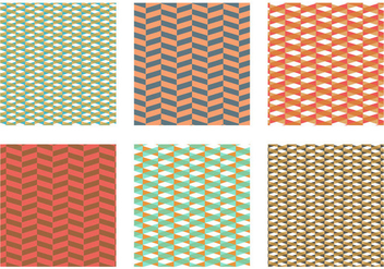Herringbone Pattern Orange Vector - Free vector #343081