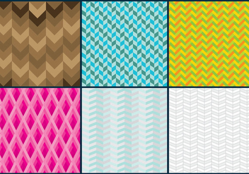 Herringbone Patterns - Free vector #343091