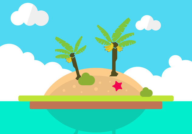 Lonely Island Vector - Free vector #343151