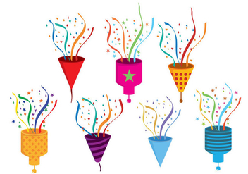 Party Popper Vector - Free vector #343161