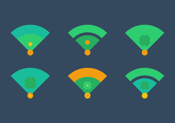 Free Baseball Vector Icon Illustrations #2 - Kostenloses vector #343181