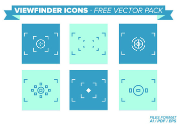 Viewfinder Icons Free Vector Pack - vector gratuit #343301