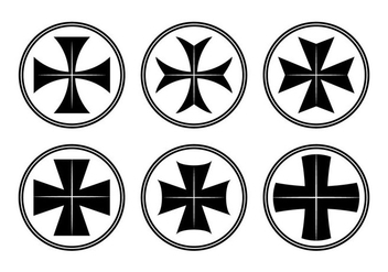 Maltese Cross Vector - Free vector #343321
