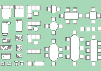 Floorplan Elements - vector gratuit #343331