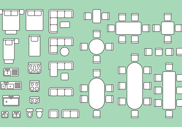 Floorplan Elements Free Vector Download 343331 Cannypic