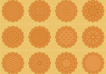 Mooncake Vectors - бесплатный vector #343341