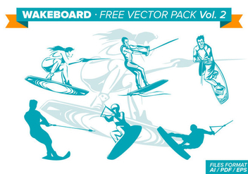 Wakeboard Free Vector Pack - бесплатный vector #343361