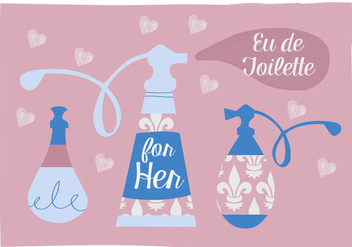 Free Perfume Vector Background Illustration - бесплатный vector #343401