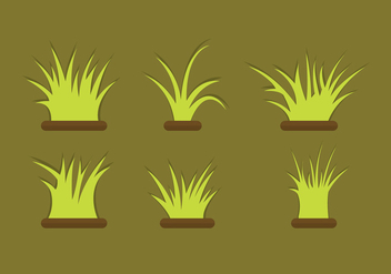 Grass Vector Set - vector gratuit #343411