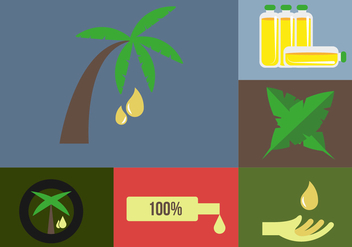 Palm Oil Icons Illustrations - Free vector #343451