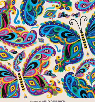 Butterfly colorful pattern - Free vector #343471