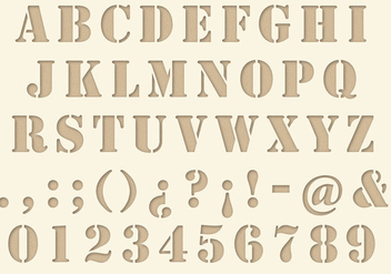 Die Cut Type - vector #343671 gratis