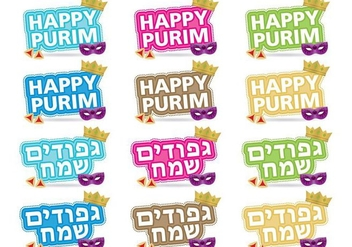 Purim Titles - vector gratuit #343721