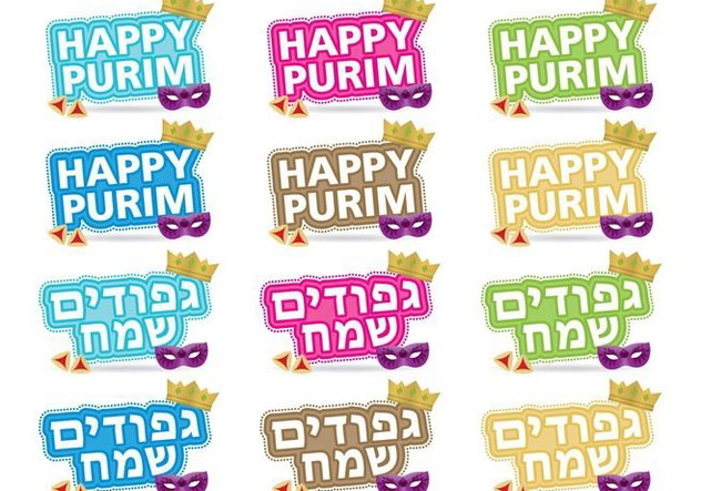 Purim Titles - vector #343721 gratis