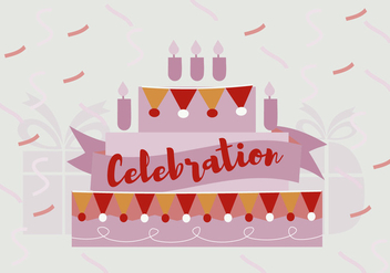 Free Birthday Celebration Vector Background - vector gratuit #343741