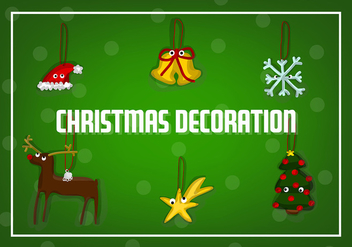 Free Christmas Decorations Vector - vector gratuit #343751