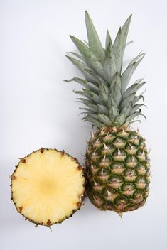 Sweet Pineapple isolated on white - бесплатный image #343901
