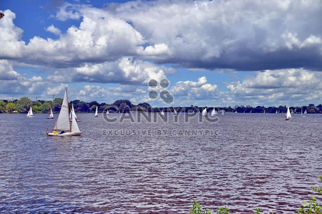 sailboats on alster lake in hamburg - Free image #344201