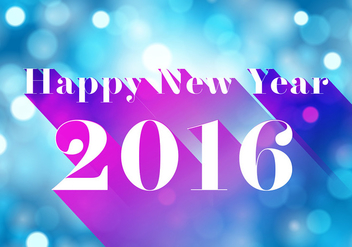 Happy new year 2016 - vector gratuit #344311