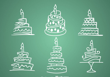 1st Birthday Cake Icons - vector gratuit #344321