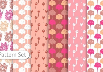 Floral Decorative Pattern Set - vector gratuit #344331