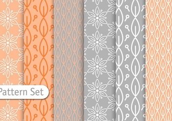 Decorative Pastel Pattern Set - Free vector #344351