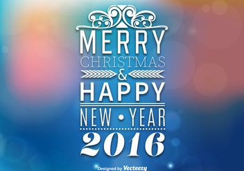 Merry christmas and happy new year background - Free vector #344361