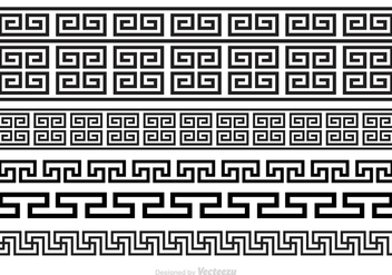 Free Greek Key Brushes Vector - vector gratuit #344481