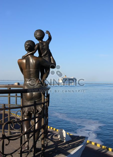 Sculpture on embankment in Odessa, Ukraine - Free image #344521