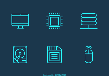 Free Hardware Vector Icons - бесплатный vector #344661