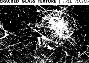 Cracked Glass Texture Free Vector - vector gratuit #344701