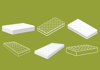 Mattress Vectors - vector #344751 gratis
