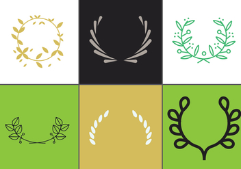 Olive Wreath Vector Set 2 - бесплатный vector #344761