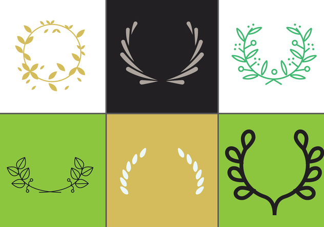 Olive Wreath Vector Set 2 - vector gratuit #344761