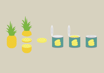 Ananas Illustration Pack - vector gratuit #344771