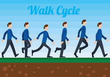 Walk Cycle Vector - Free vector #344911