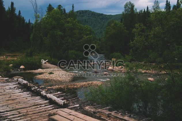 Beautiful landscape of Altai mountains and river - Free image #345081