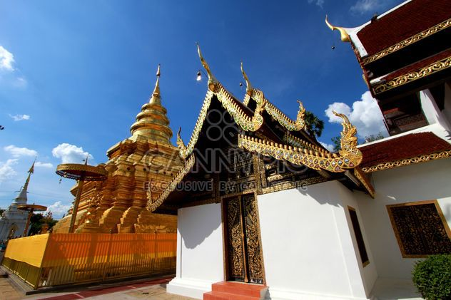 Thai temple under blue sky - Free image #345091