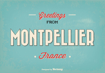 Montpellier France Greeting Illustration - vector gratuit #345161