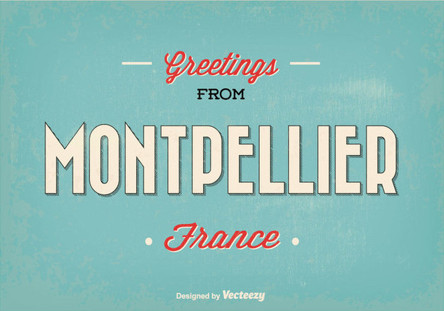 Montpellier France Greeting Illustration - Kostenloses vector #345161