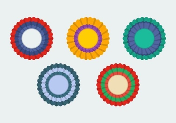 Free Cockade Vector Illustrations - vector gratuit #345171