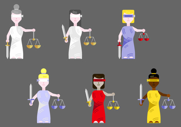 Free Lady Justice Vector - Free vector #345201