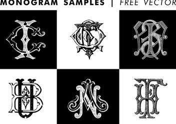 Monogram Samples Free Vector - vector gratuit #345251