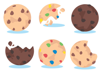 Cookie Vector Set - Free vector #345321