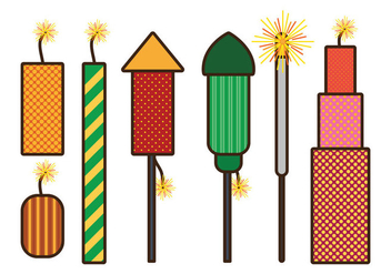 Fire Crackers Vector - vector gratuit #345361