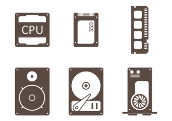 CPU Minimalist Icon - vector gratuit #345421