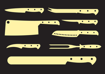 Vector Set of Knives - vector #345531 gratis