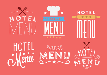 Vector Set of Hotel Menu - vector gratuit #345541
