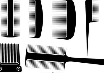 Hair Comb and hair clipper designs - Kostenloses vector #345591